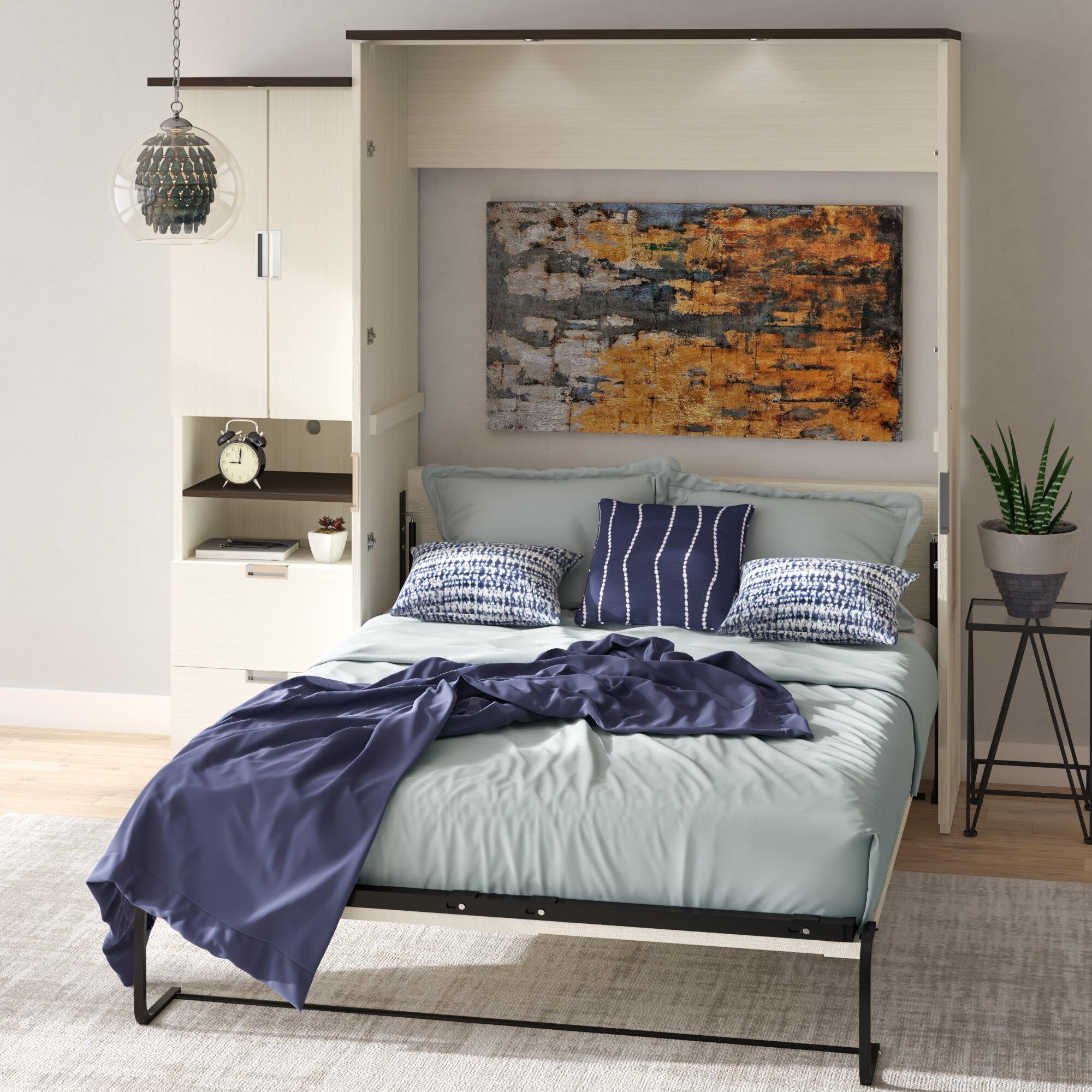 Latitude Run Loyalton Storage Murphy Bed Reviews Wayfair Ca