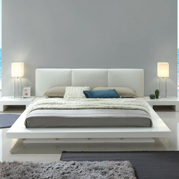 Vegard Low Profile California King Upholstered Platform Bed
