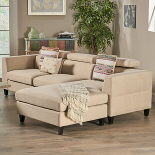 Lundberg Modern Deep Seated Chaise Modular Sectional by Ivy Bronx