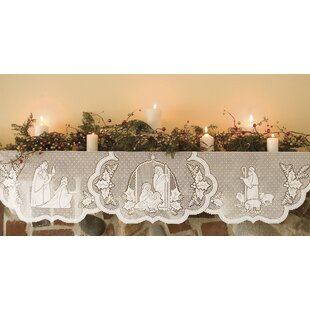 Silent Night Polyester Mantle Scarf by Heritage Lace
