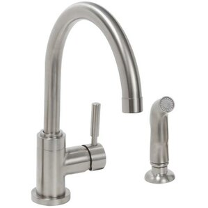 Premier Faucet Essen Single Metal Lever Handle Kitchen Faucet with Spray