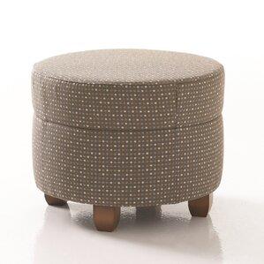 Crosby Round Ottoman in Grade 4 Fabric by Studio Q Furniture