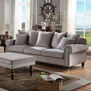 Mink Velvet Sofa   Wayfair.co.uk