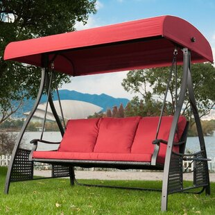 Krish Outdoor Glider Porch Swing with Stand by Bayou Breeze