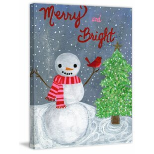 Merry and Bright Painting Print on Wrapped Canvas by Marmont Hill