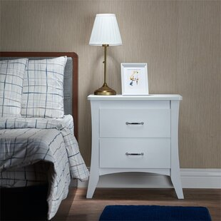 Dunlo 2  Drawer Nightstand in White by Red Barrel Studio