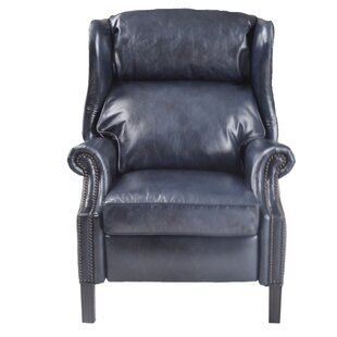 Farrelly Leather Manual Recliner by Red Barrel Studio