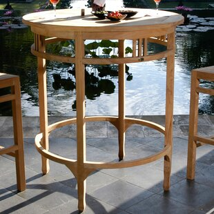 Bauman Solid Wood Bar Table by Darby Home Co