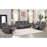 Yeldell Lay Flat Power 3 Piece Leather Reclining Living Room Set by Red Barrel Studio