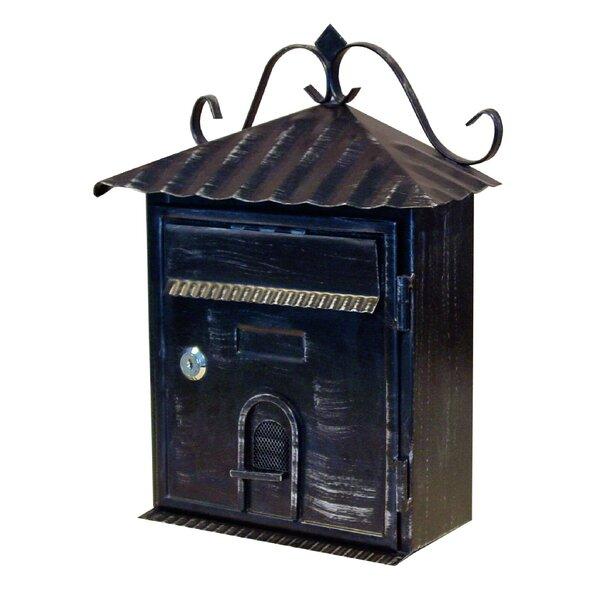 Cast Iron Mailbox Metal Mail Box Wall Mount Lockable