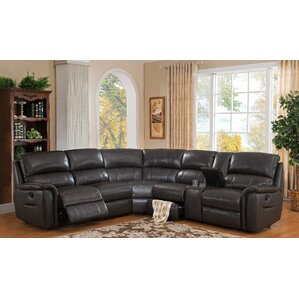 Camino Leather Reversible Reclining Sectiona..