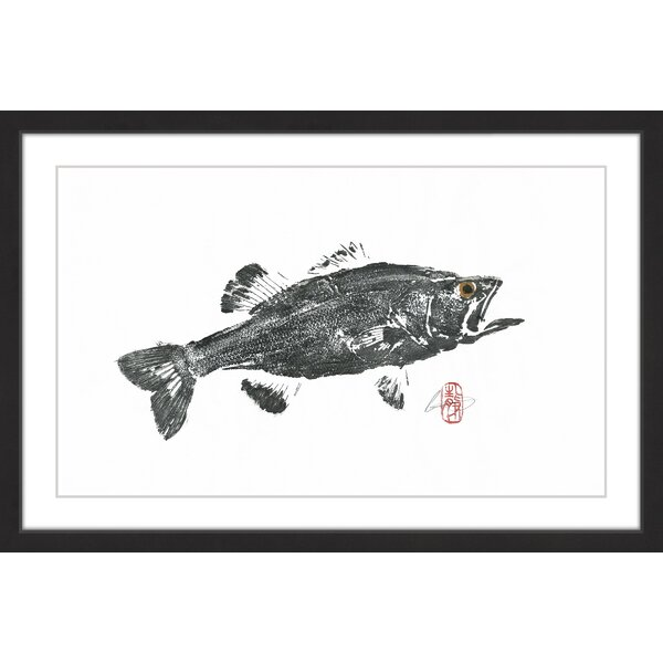 Marmont Hill Large Mouth Bass Framed Painting Print Wayfair
