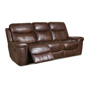 Heineman Leather Reclining Sofa by Alcott Hill New