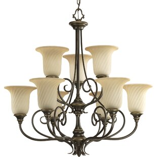 Terrie 9-Light Shaded Chandelier by Fleur De Lis Living