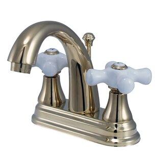 Elizabeth Centerset Bathroom Faucet with Double Porcelain Cross Handles