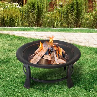 Steel Wood Burning Fire Pit By Homebeez