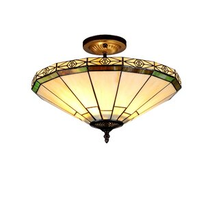 Keasler 2-Light Semi Flush Mount by Astoria Grand