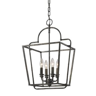 Thea 4-Light Lantern Chandelier by Gracie..