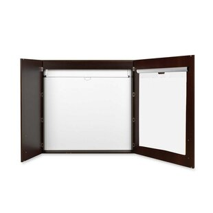 Mastervision Conference Magnetic Enclosed Whiteboard, 4' H x 4' W by Bi-silque Visual Communication Product, Inc.