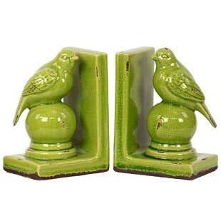 Strikingly Idea Bird Bookends. Stoneware Bird Bookend Turquoise  Set of 2 Bookends You ll Love Wayfair