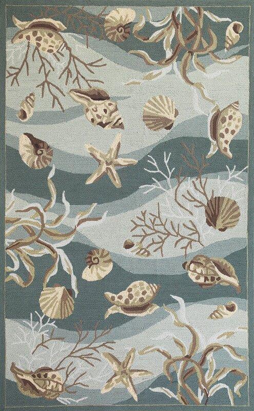Sonesta Seafoam Shells Rug from Wayfair!