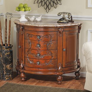 Carbonne Crescent Solid Marble Top Accent Chest