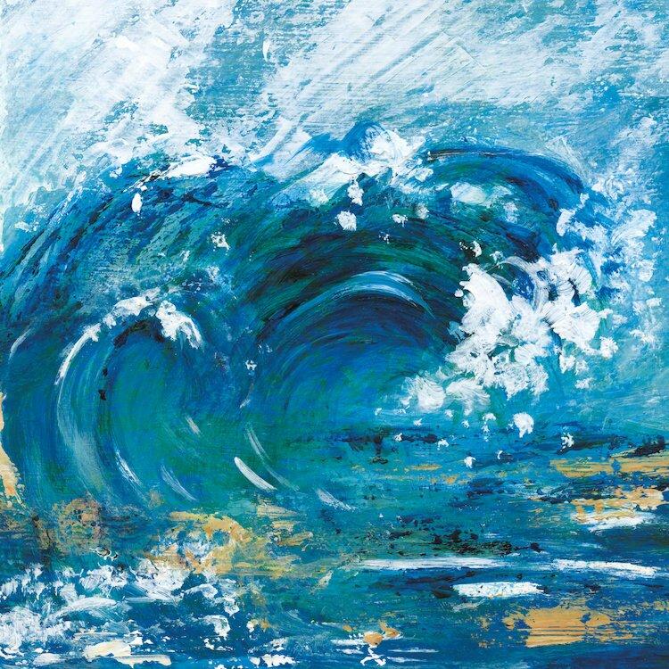 East Urban Home Big Surf Ii Painting Print On Wrapped Canvas Wayfair