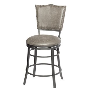 Rooney 24'' Swivel Bar Stool Williston Forge