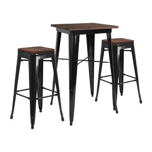 Mozingo Square 3 Piece Pub Table Set Williston Forge