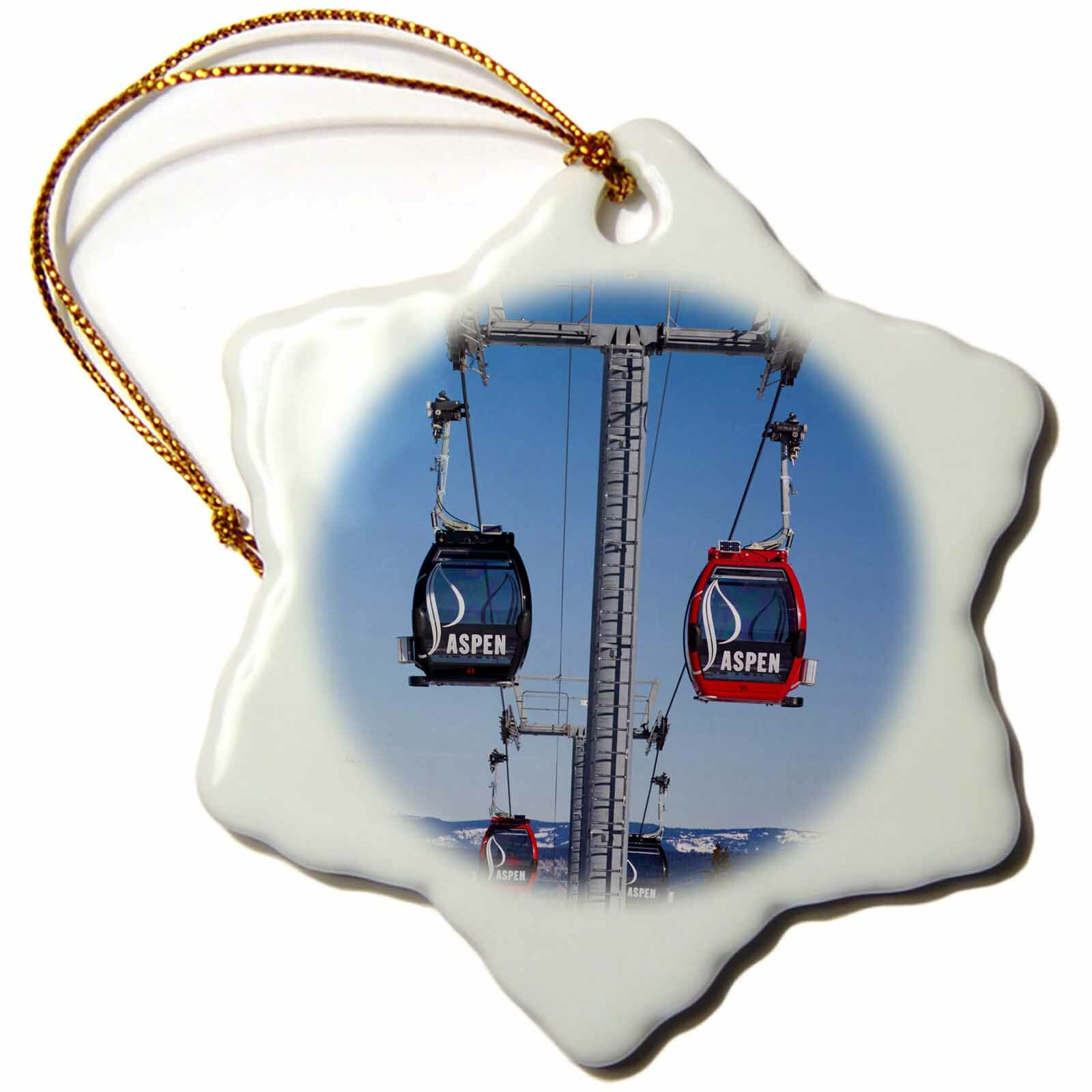The Holiday Aisle Usa Colorado Aspen Mountain Ski Area Gondola Snowflake Holiday Shaped Ornament Wayfair