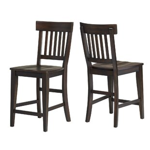 Carmean Rake Back 24 Bar Stool (Set Of 2) by Gracie Oaks