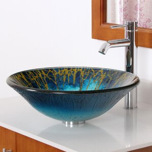 Bathroom Sinks Glass Bowls clear glass bowl sink | wayfair