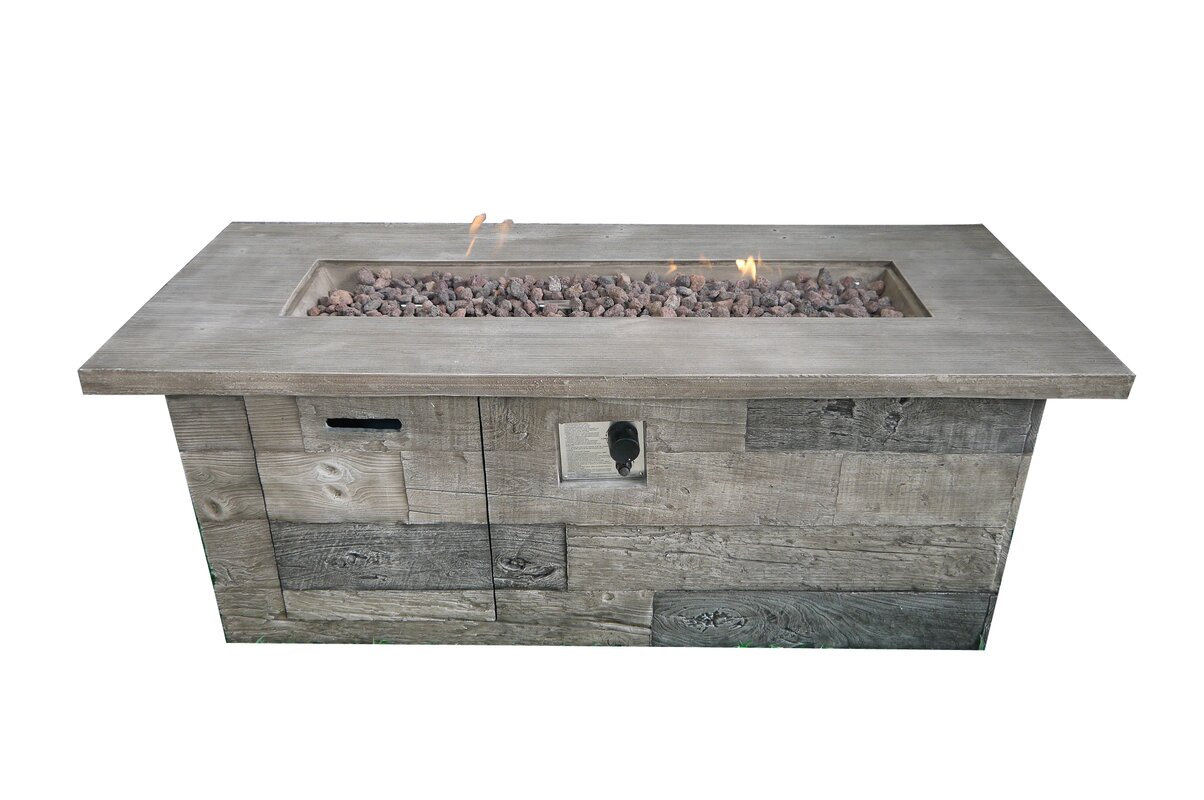 teva furniture timber concrete propane fire pit table u0026 reviews