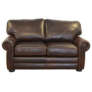 Fenway Studio Leather Loveseat by Westlan..