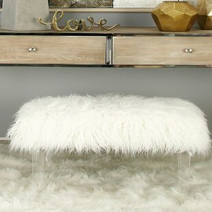Cole & Grey Acrylic Faux Hair Stool