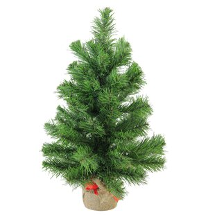 15 green pine artificial christmas tree in burlap base - Rustic Artificial Christmas Tree