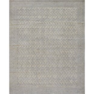 One-of-a-Kind Unique Handwoven Wool Dark Gray Indoor Area Rug ByMansour
