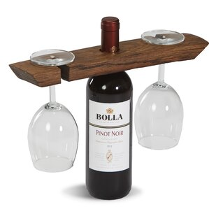 Gauger Wine Barrel Glass Caddy by Loon..