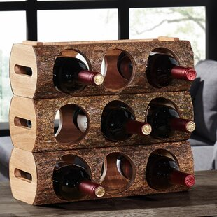 Bannan 3 Bottle Tabletop Wine Rack by Loo..