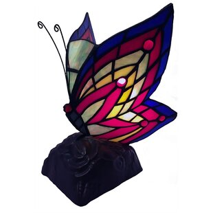 Sepanek Butterfly Tiffany 10 Table Lamp