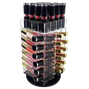 Acrylic Rotating Lipstick Cosmetic Organizer