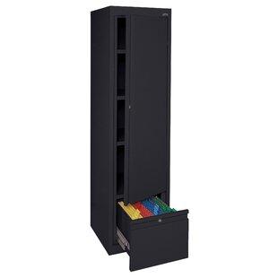Systems Series 64H x 17 W x 18D Adjustable Shelf Storage Cabinet by Sandusky Cabinets