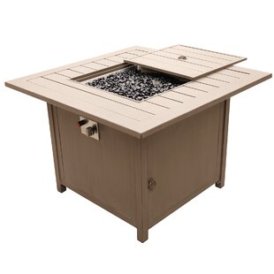 Orren Ellis Otega Outdoor Propane Gas Firepit Table