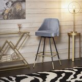Coupland Swivel Adjustable Height Bar Stool by Everly Quinn