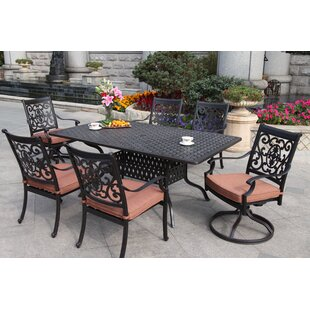 Astoria Grand Mccraney Contemporary 7 Piece Dining Set with Cushions