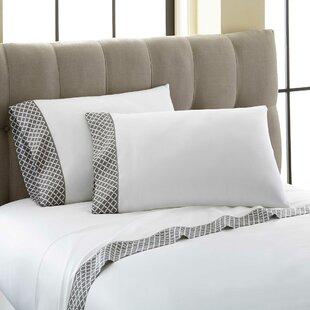 Cramer Quatrefoil Printed Cuff 300 Thread Count 100% Cotton 4 Piece Sheet Set