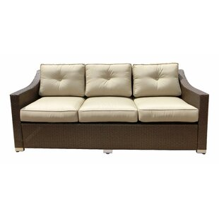 World Wide Wicker Tampa Patio Sofa with C..