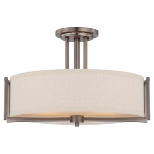 Ivy Bronx Bouley Contemporary 3-Light Semi Flush Mount