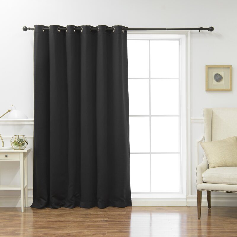 """Grommets Panel 100/% Blackout 3 Layered Bay Window Curtain 1 Set WHITE 108/"""""""