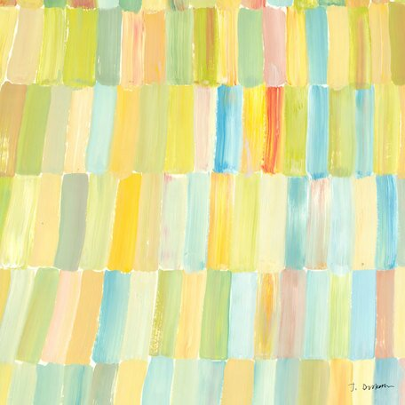 'Popsicle Sticks' by Jack Dickerson Painting Print on Wrapped Canvas in Yellow